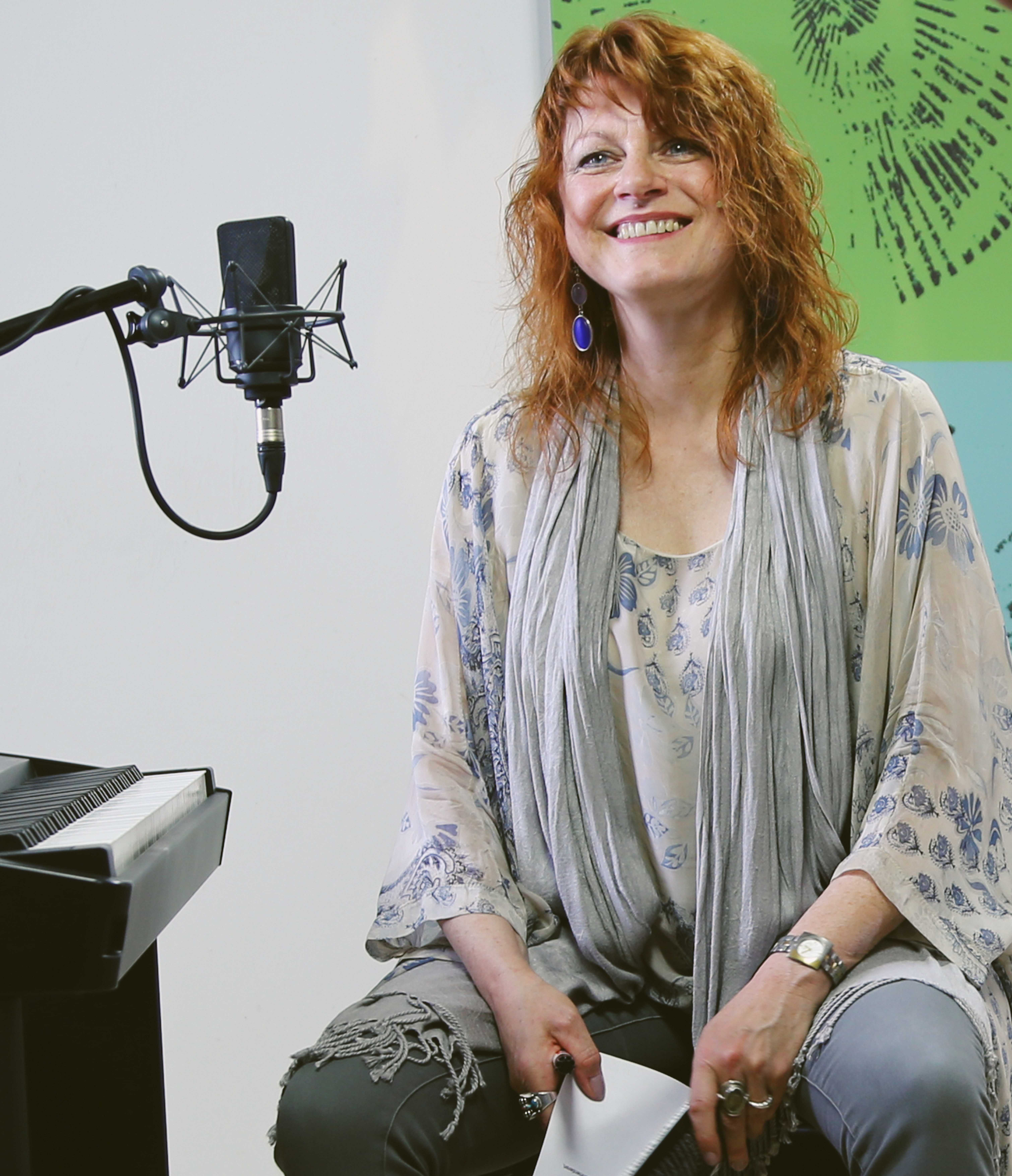 Renate Braun im Studio